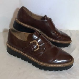 """ZARA"" TRAFLUC Brown Brogue Style Ladies Shoes."
